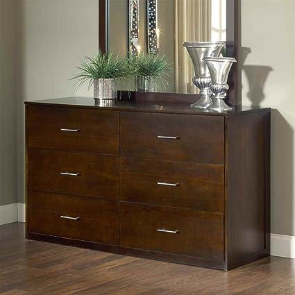 Modus Furniture 3C2282 Modera Six Drawer Dresser, Chocolate Brown