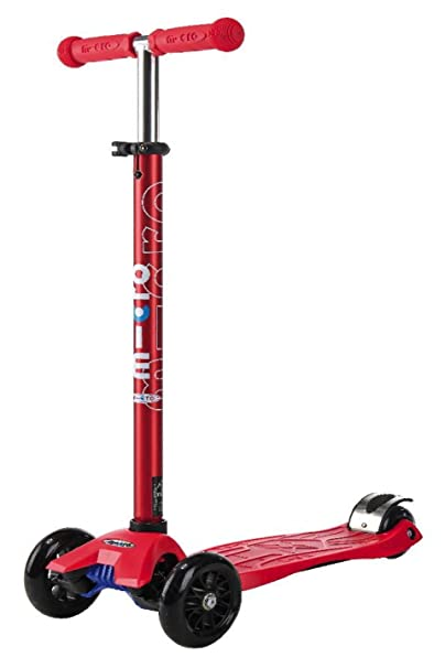 Trottinette Micro Maxi rouge Barre anodisée