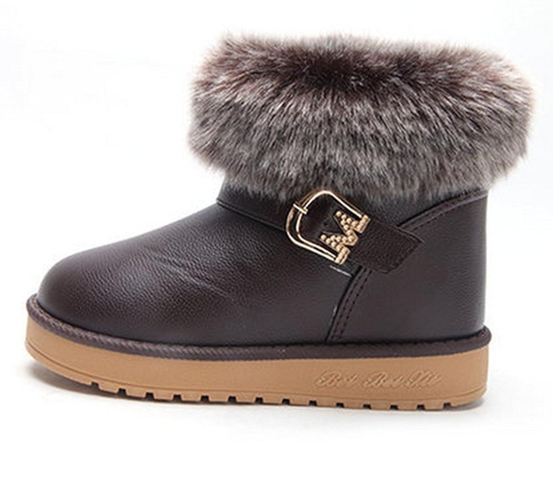 Fashion Leder Winter warm Anti-Rutsch Stiefel snow boots/Schneestiefel Kinder-Schneeschuhe Jungen Stiefel Mädchenbaumwollstiefel Kinder warmen stiefel Fashion Kinder Schuhe kaufen