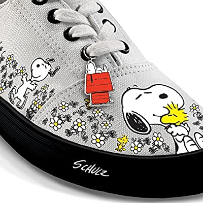 PEANUTS Happiness Is Friendship Women's Shoes With PEANUTS Characters Snoopy And Woodstock by The Bradford Exchange