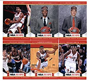 2012-13 Panini NBA Hoops Portland Trail Blazers Team Set In Collector