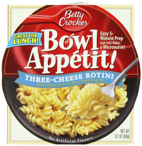 Betty Crocker Bowl Appetit! Three Cheese Rotini, 3.1 Oz Package (Pack Of 3)
