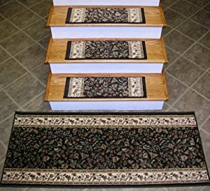710005 rug depot stair tread combo pack set of 13 treads 26 x 9 with matching - Rugs and runners to match ...