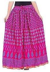 Magnus Women's Long Skirt (SKT490, Pink, L)