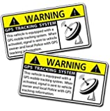 GPS Vehicle Car Alarm Security Caution Warning Decal Sticker