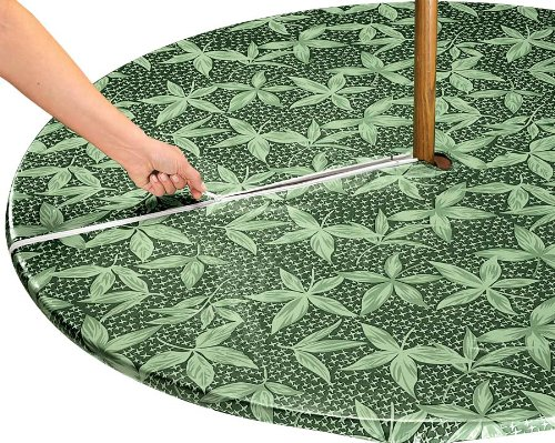 Miles Kimball Fern Umbrella Table Cover front-984750
