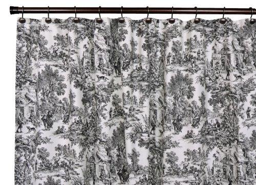 Black Toile Curtains : Black Toile Curtains