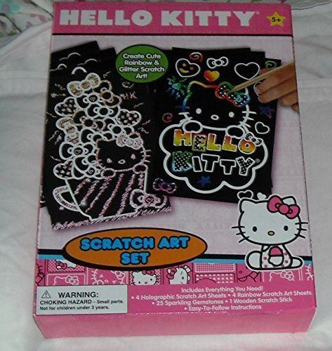 Hello-Kitty-Scratch-Art-Set-with-Gemstones