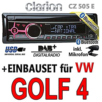 VW golf iV - 4-clarion cZ505E digital avec bluetooth/dAB