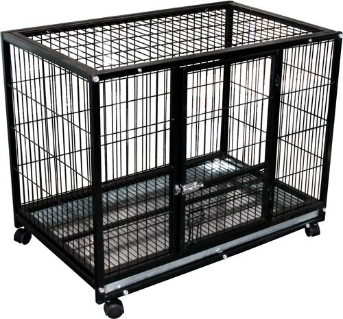 Rolling Portable Pet Kennel Training Crate front-954015