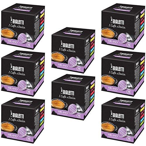 Bialetti Capsule Milano - Set 8 confezioni da 16 capsule