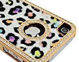 LiViTech Purple Rainbow Cushion Quilted Designer Cheetah Diamond Rhinestone Crystal Bling Case iPhone 4 4S -AT&T,Verizon,Sprint Reviews
