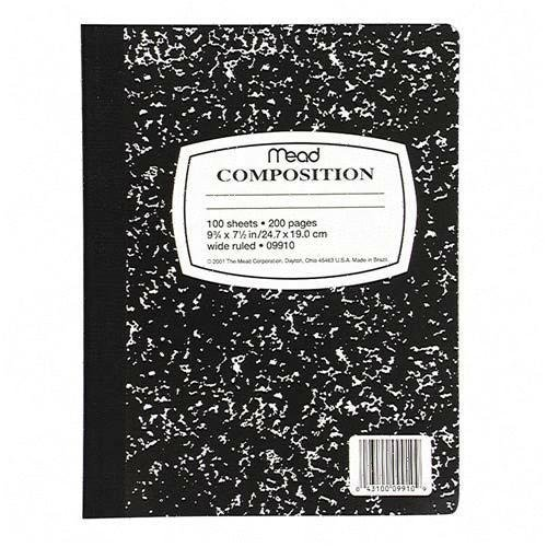 Mead Composition Book with Wide Rule