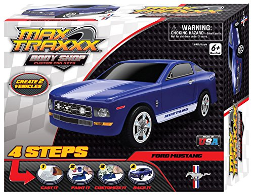 Max Traxxx Award Winning Body Shop PerfectCast Ford Mustang Car Craft Kit (Ford Model Cars compare prices)