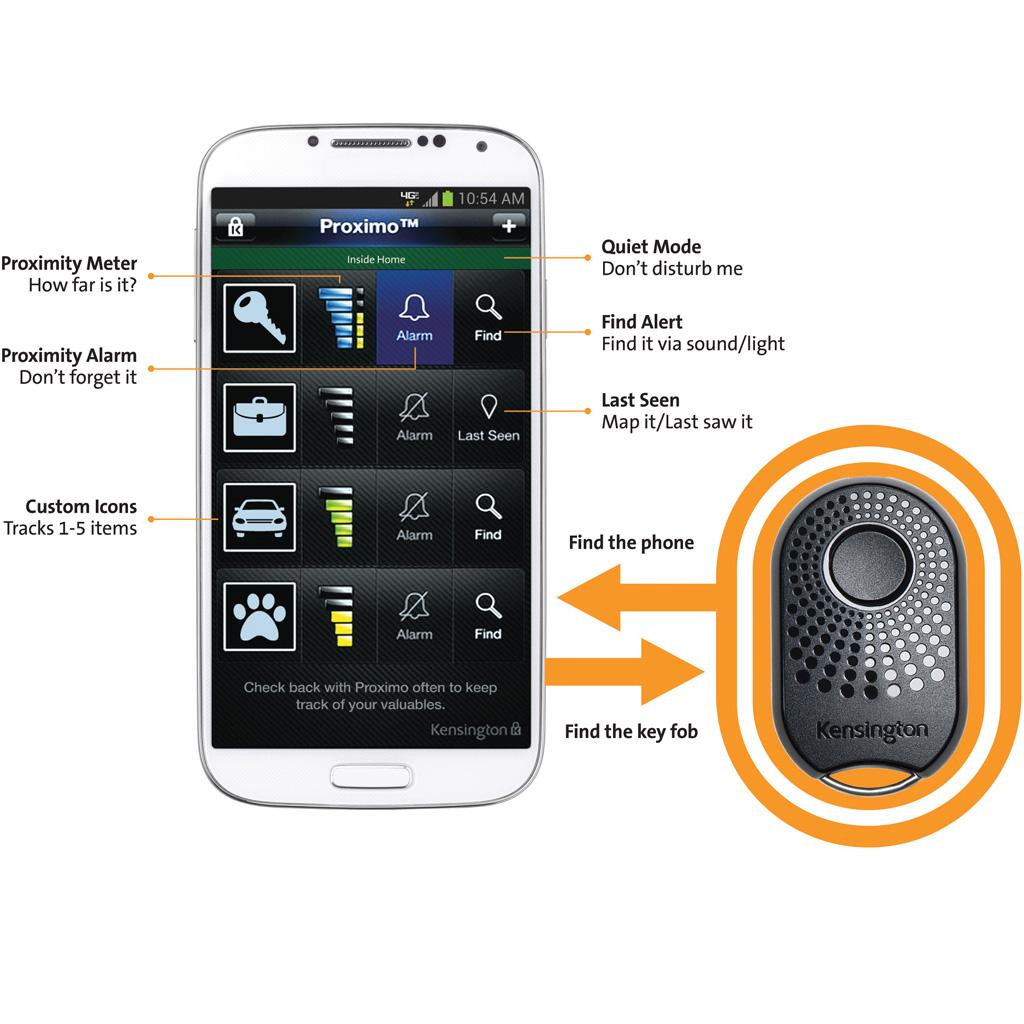 FOB Bluetooth Tracker for iPhone 5S/5C/5/4S and Samsung Galaxy S3/S4