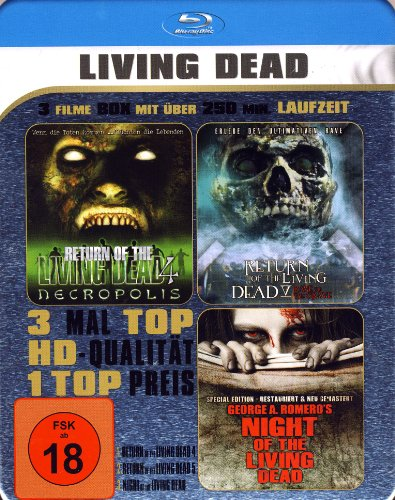 LIVING DEAD - 3 Filme Metallbox - Return of the living dead 4 & 5 - Night of the living dead (Blu-ray)
