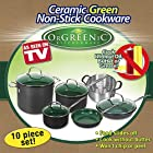 As Seen on TV Non-Stick New Orgreenic 10 PIECE COOKWARE SET
