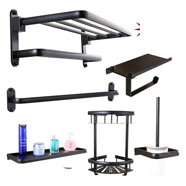 Continental bagno nero piegato portasciugamani/Asciugamano/hardware/Bagno rack di bagno-G