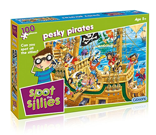 Gibsons Spot The Sillies - Pesky Pirates Jigsaw Puzzles (100-Piece)