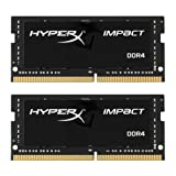 Kingston Technology HyperX Impact 32GB 2666MHz DDR4 CL15 260-Pin SODIMM Laptop Memory, Kit of 2 (HX426S15IB2K2/32) (Tamaño: 32GB Kit (2 x 16GB))