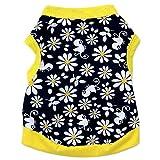 Small Dog Shirt, Voberry® Fashion Summer Pet Dog Girls Flowers T-shirt (S, Yellow)