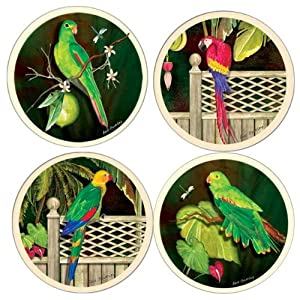 Parrots absorbent coasters coasterstone for Best coasters for sweaty drinks