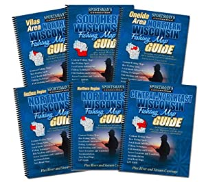 Wisconsin Fishing Map Book Guides Set by Sportsman