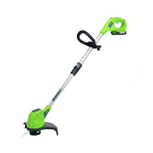4. GreenWorks 21262 20V 12-Inch Cordless String Trimmer, 2AH Battery and Charger Included