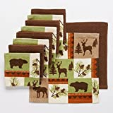 10 Pc Wildlife Kitchen Dish Cloth Set Perfect for Your Hunting Lodge or Log Cabin Featuring Bear Deer Moose by The Big One
