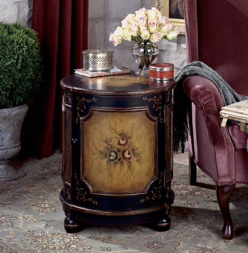 Butler Specialty Round Hand Painted Drum Table in Coffee