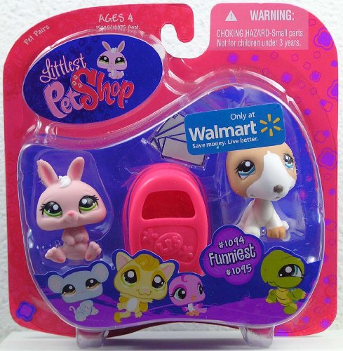 Buy Low Price Hasbro Littlest Pet Shop Exclusive Funniest Pet Pairs Figures Pink Bunny and Bull Terrier with Mailbox (B002KN9KLK)