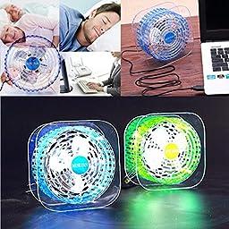 Bangcool Led Fan USB Portable Mini Desktop Fan(Blue)