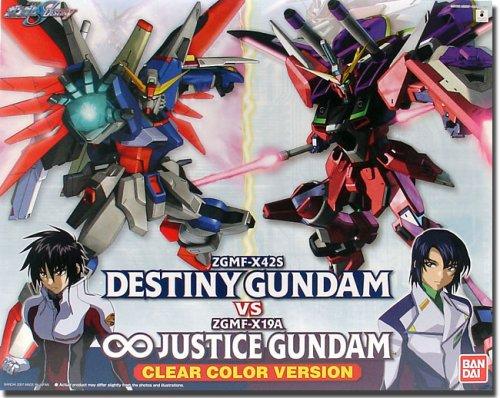 Gundam Seed Destiny Destiny vs Infinite Justice Clear Ver. Scale 1/100