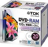 TDK 録画用DVD-RAM デジタル放送録画対応(CPRM) インクジェットプリンタ対応 2-3倍速 5mmスリムケース 20枚パック DRAM120DPB20U