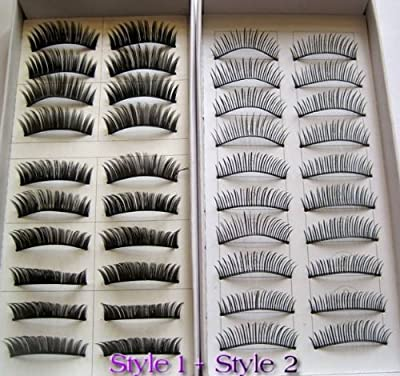 Best Cheap Deal for 20 Pairs Regular Long and Thick Eyelashes Style 1 and 2 by DPNY - Free 2 Day Shipping Available