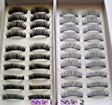 Health & Beauty Online Shop Ranking 26. 20 Pairs Regular Long and Thick Eyelashes Style 1 and 2