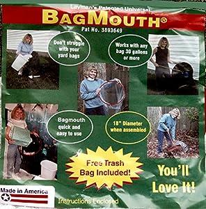 Amazon.com: Bagmouth Keeps Large Yard & Trash Bags Open (2 ...