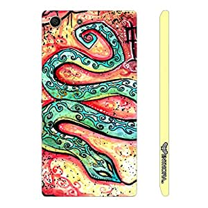 Sony Xperia M5 CHINESE ZODIAC SNAKE designer mobile hard shell case by Enthopia
