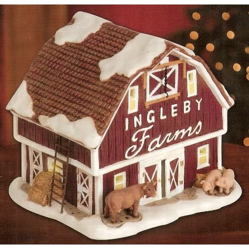 Christmas Village Collection ~ Ingleby Farms Red Barn