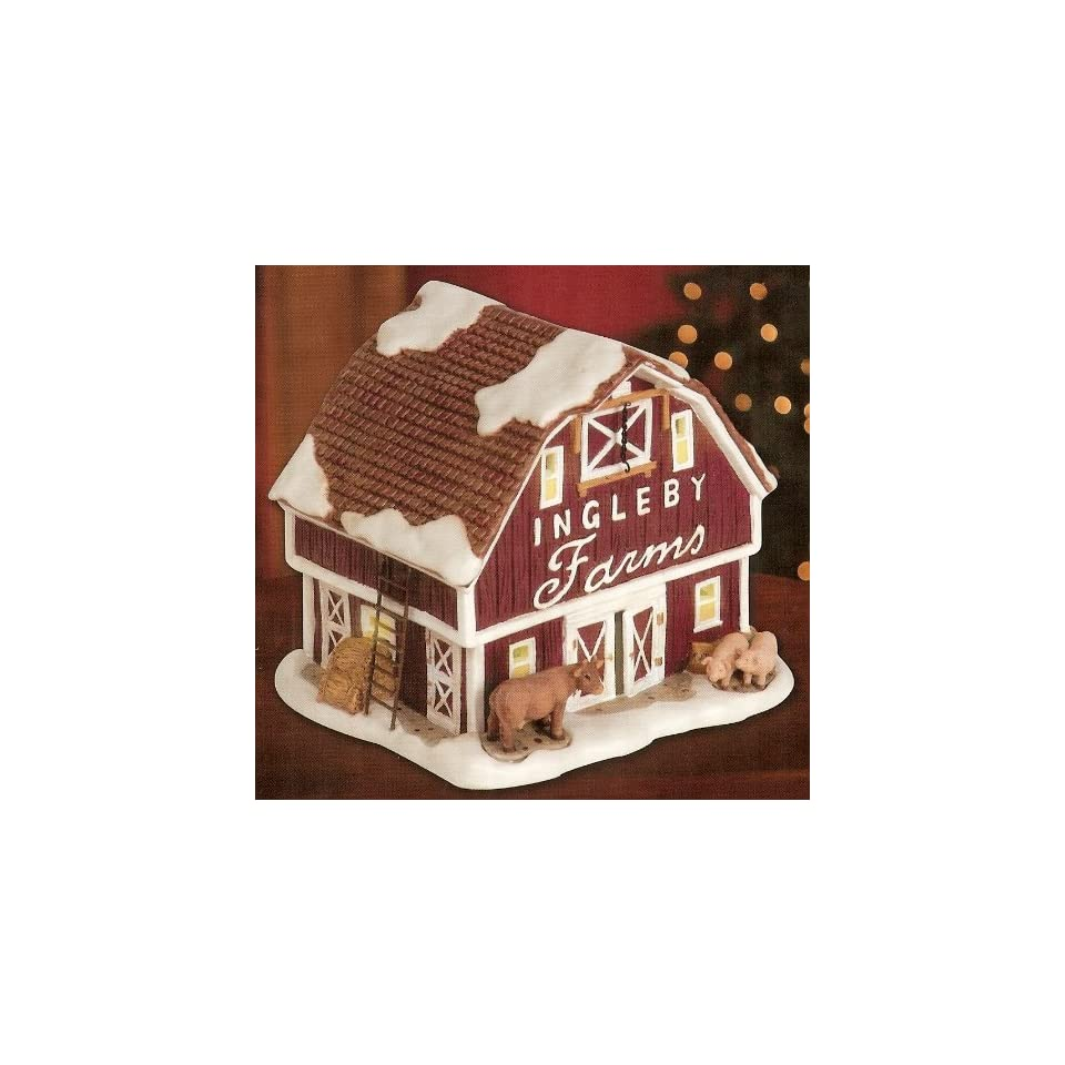 Christmas Village Collection ~ Ingleby Farms Red Barn ~ Electric Light Display