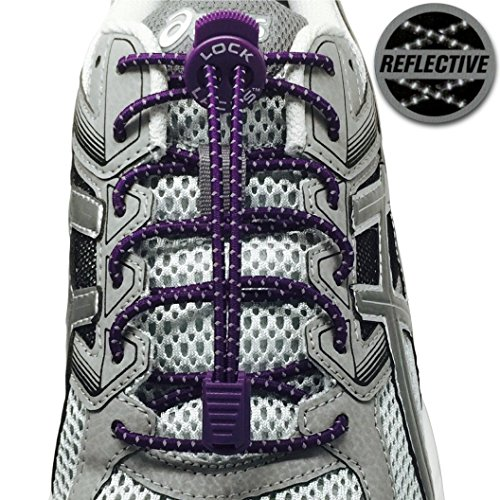 7. LOCK LACES Reflective (Elastic No Tie Shoelaces)