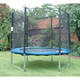 8Ft Outdoor Garden Childrens Bouncy Trampoline & Safety Net Enclosure