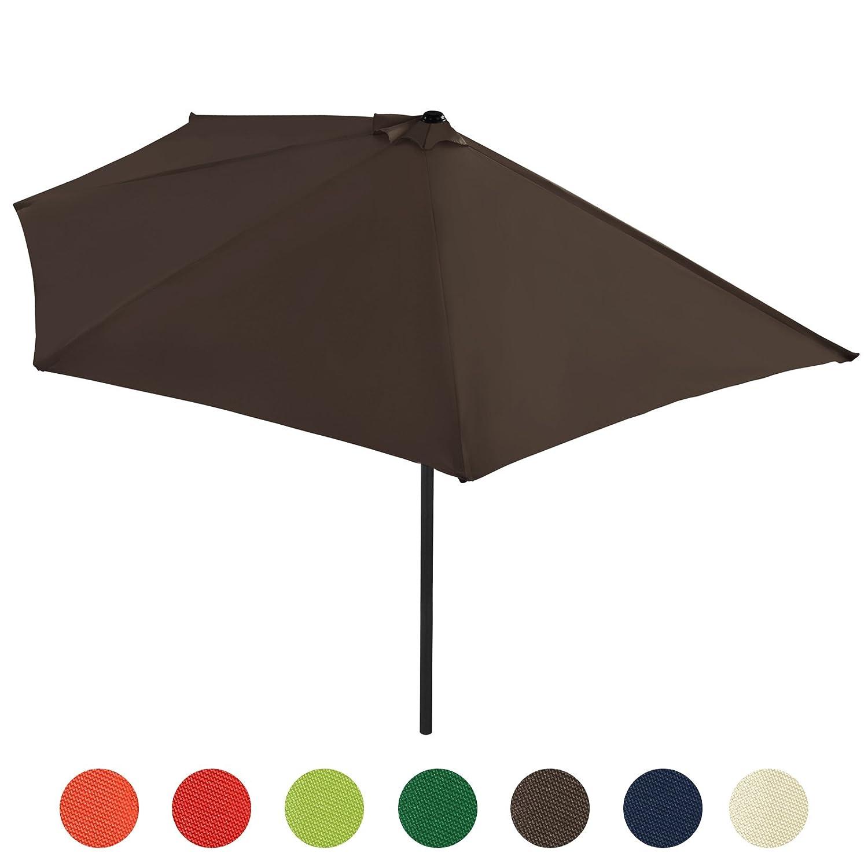 Sonnenschirm Strandschirm Gartenschirm Halbrund mit Kurbel Schirm Balkonschirm Sonnenschutz in sieben verschiedenen Farben