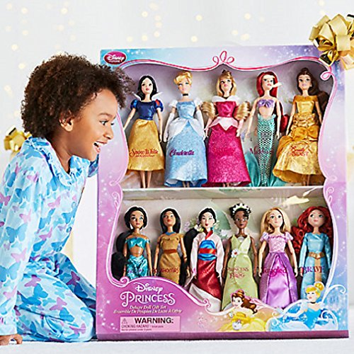 Disney-Exclusive-Princess-Doll-Collection-12-11-DollsSnow-White-Cinderella-Aurora-Ariel-Belle-Jasmine-Pocahontas-Mulan-Tiana-Rapunzel-and-Merida