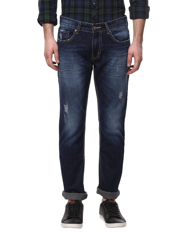 Crew Men's Dark Blue Straight Fit Jeans - 34 (ACJN159-34)