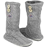 NBA Oklahoma City Thunder Women&#039;s Two-Button Cable Knit Boots - Gray (9/10) Amazon.com