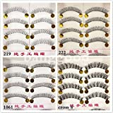 10 Pair Natural Hick Soft Handmade Makeup False Eyelashes#Style 219