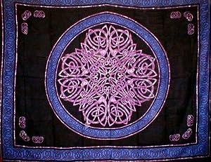 Cotton Celtic Tye Dye Knot Print Tapestry