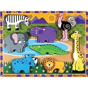 Melissa & Doug Safari Chunky Puzzle
