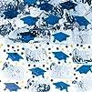 Blue Mixed Grad Confetti